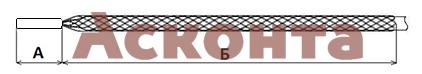 Кабельный чулок МЧ30/М12х1,5 с резьбовым наконечником