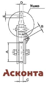 Размеры алюминиевого монтажного блока CZL