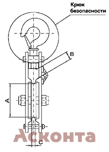 Размеры стального монтажного блока CZA
