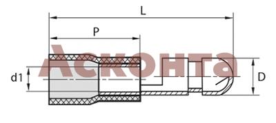Разъем штекерный изолированный (папа) РШИ-П