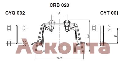 Инспекционная тележка CRB020