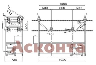 Инспекционная тележка CRQ141 для четырех проводов