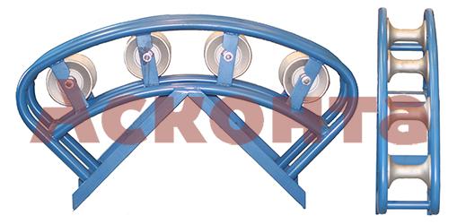 Общий вид углового направляющего кабельного ролика РНУ4/120AL
