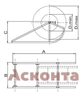 Размеры подставки под барабан CVC002