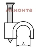 31018 Скоба крепежная для круглого кабеля R5 с гвоздем 50шт ПЕРЕДОВИК