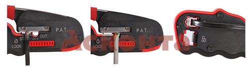 JT-04 Обжимные клещи с 2 встроенными модулями для RJ-45, RJ-12, RJ-11 КВТ