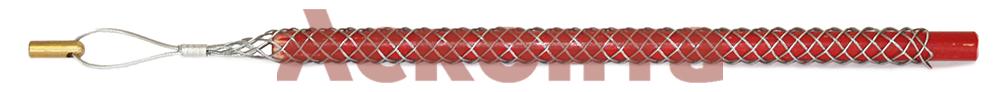 Общий вид кабельного чулка КЧЛ12/М5 с петлей и резьбовым наконечником