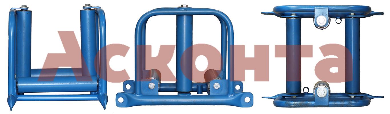 Общий вид линейно-углового кабельного ролика РЛУ4/150