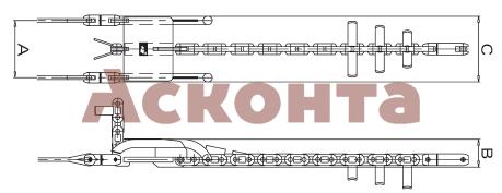 RFT050 Фиксированное коромысло на три провода