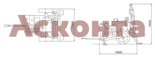 Размеры гидравлической натяжной машины ARS301