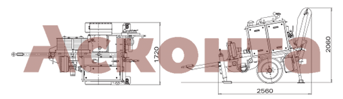 Размеры гидравлической натяжной машины ARS403