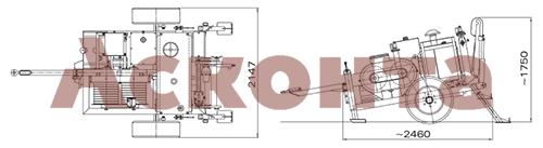 ARS510 Гидравлическая натяжная машина 70кН Тесмек (Tesmec)