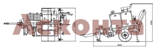 Размеры гидравлической натяжной машины ARS500