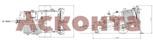 Размеры гидравлической натяжной машины ARS606