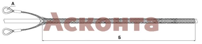 Общий вид усиленного кабельного чулка КЧС180/2УВ 150-180мм