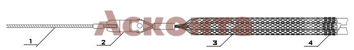Краткий порядок использования кабельного чулка КЧ20/3