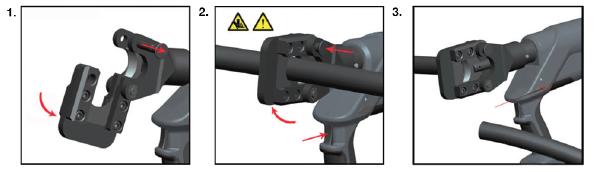 Порядок работы НЭГА-45 ножниц электрогидравлических