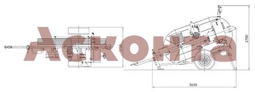 Размеры гидравлической тормозной машины FRS301