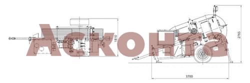Размеры гидравлической тормозной машины FRS404