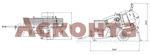 Размеры гидравлической тормозной машины FRS531