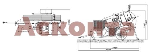 Размеры гидравлической тормозной машины FRS507