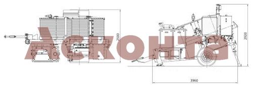 Размеры гидравлической тормозной машины FRS615
