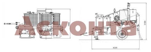 Размеры гидравлической тормозной машины FRS620