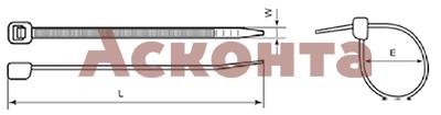 32218 Нейлоновые стяжки 7,2х300мм (черные) 100шт. ПЕРЕДОВИК