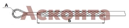 Размеры кабельного чулка КЧЛ25