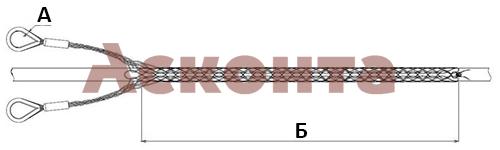 Размеры разъемного кабельного чулка КЧР65/2