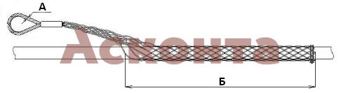 Размеры разъемного кабельного чулка КЧР80/1