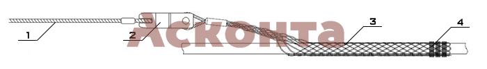 Краткий порядок применения кабельного чулка КЧР80/1