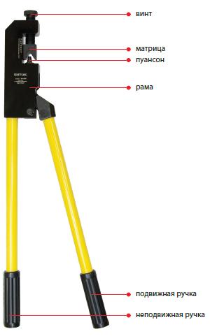 03002 Пресс-клещи механические ПК-240У 10-240мм²