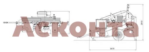 Размеры гидравлической реверсивной машины AFS301