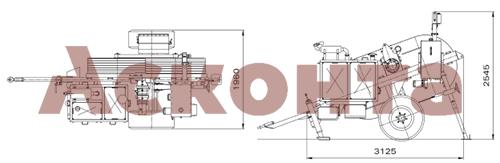 Размеры гидравлической реверсивной машины AFS411
