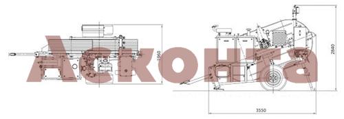 Размеры гидравлической реверсивной машины AFS404