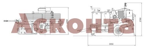 Размеры гидравлической реверсивной машины AFS507