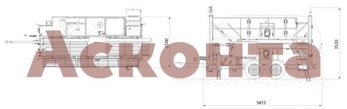 Размеры гидравлической реверсивной машины AFS618