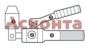 ПГРОп-60А Пресс гидравлический ручной поворотный алюминиевый для пробивки отверстий в стальных листах КВТ