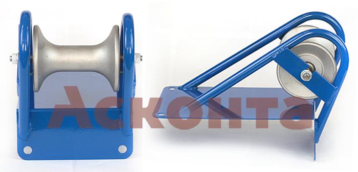 РКН1/120AL Ролик на кромку кабельного колодца для кабеля ⌀ до 120мм, Al валик