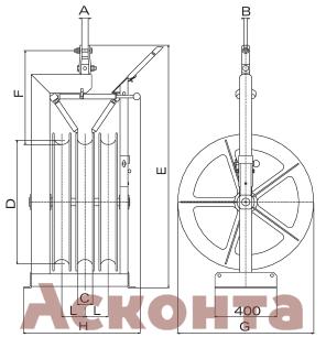 Размеры тройного раскаточного ролика CET803