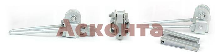 МК-4 кл.3 Монтажный клиновой зажим для троса (грозотроса) 13,0мм