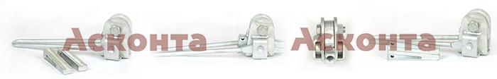 МК-3 кл.4 Монтажный клиновой зажим для троса (грозотроса) 11,0мм