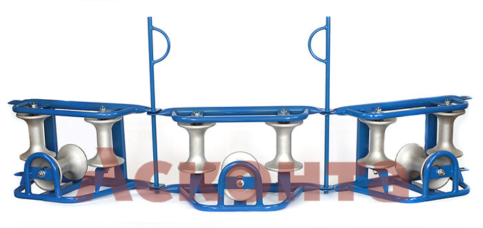 РКУ3/120AL Угловые кабельные ролики в цепочке для кабеля ⌀ до 120мм, AL валики