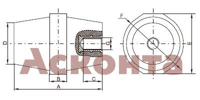 Изолятор шинный (бочонок) с болтом