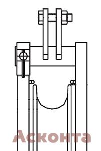 Фиксированное крепление раскаточного ролика CAS