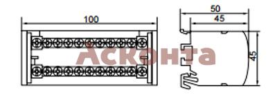 Шина нулевая в корпусе на DIN-рейку