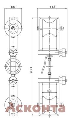 Размеры ролика ABR021