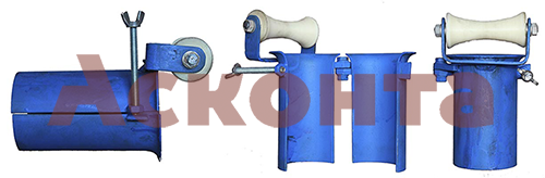 Общий вид вводного патрубка с 1м роликом ВП1/102 102-111мм