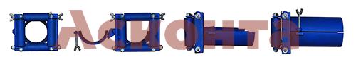 Общий вид вводного патрубка с 4мя роликами ВП4/152 152-166мм